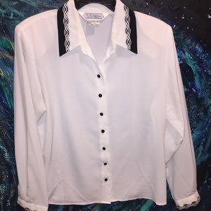 Chic KB Lawrence button down blouse